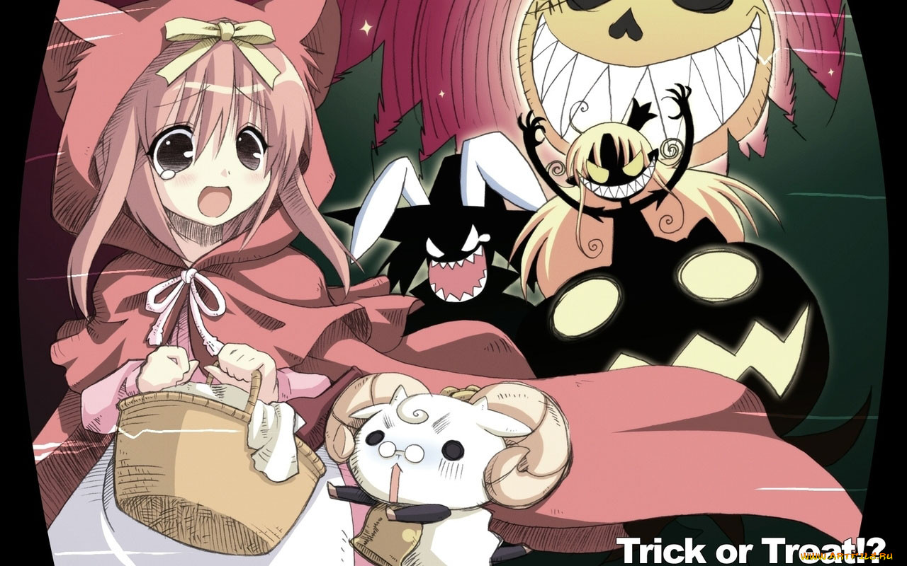аниме, halloween, magic